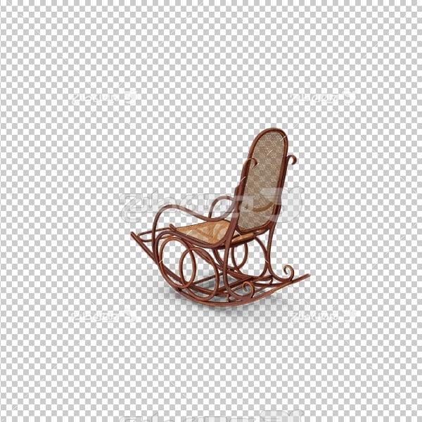 تصویر دوربری سه بعدی صندلی راحتی