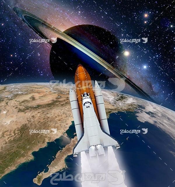 عکس موشک در فضا