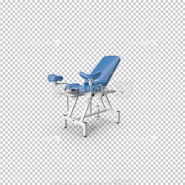 تصویر دوربری سه بعدی صندلی معاینه پزشکی