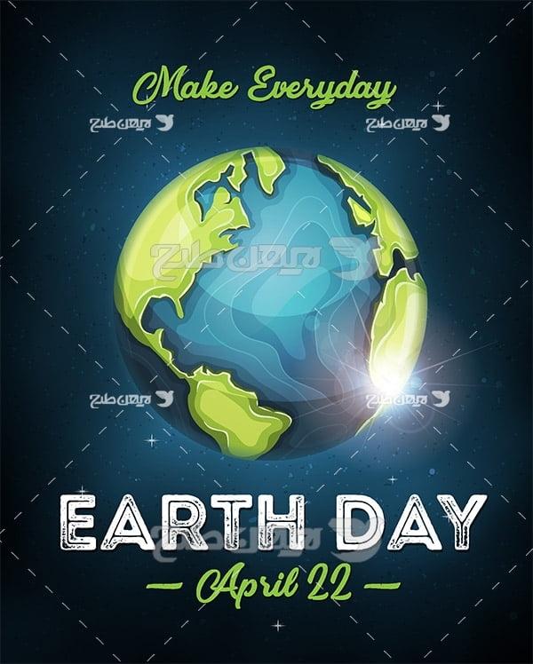 وکتور روز کره زمین