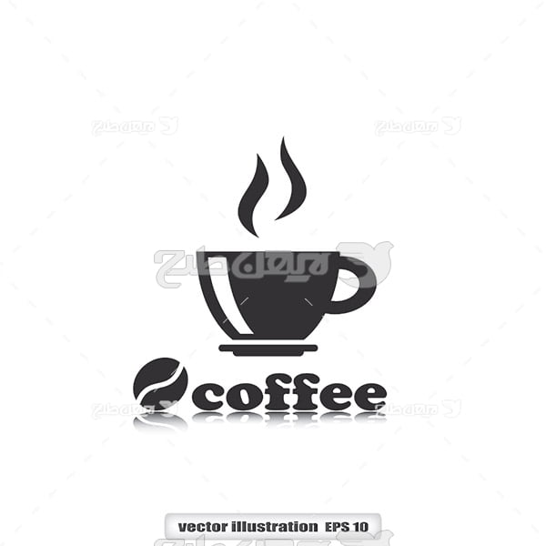 وکتور قهوه داغ