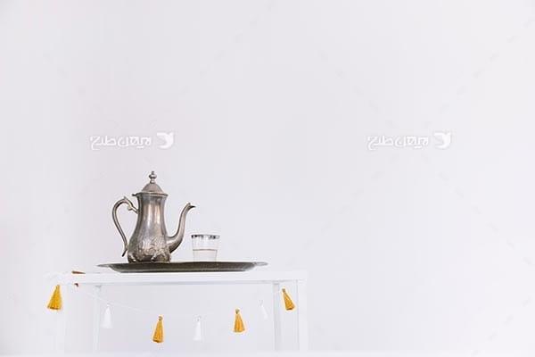 تصویر با کیفیت از قوری چای