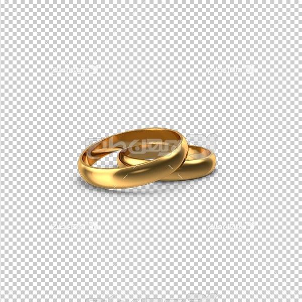 تصویر برش خورده سه بعدی انگشتر طلا