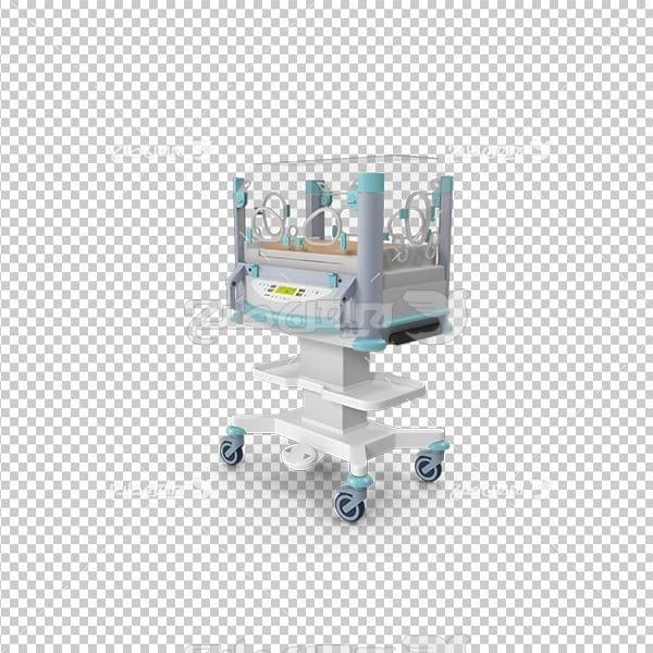 تصویر دوربری سه بعدی دستگاه شیشه ای نگهداری نوزاد
