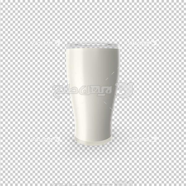 تصویردوربری سه بعدی لیوان شیر