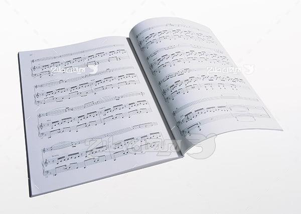 تصویر دفتر نوت موسیقی