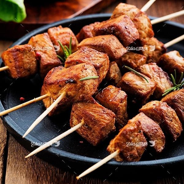 تصویر کباب و گوشت