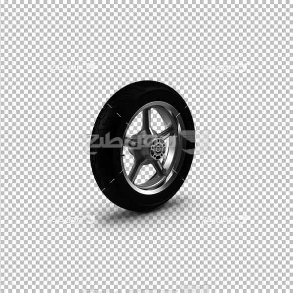 تصویر دوربری سه بعدی لاستیک موتور