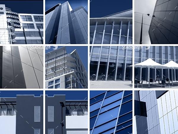 تصویر شهر و ساختمان