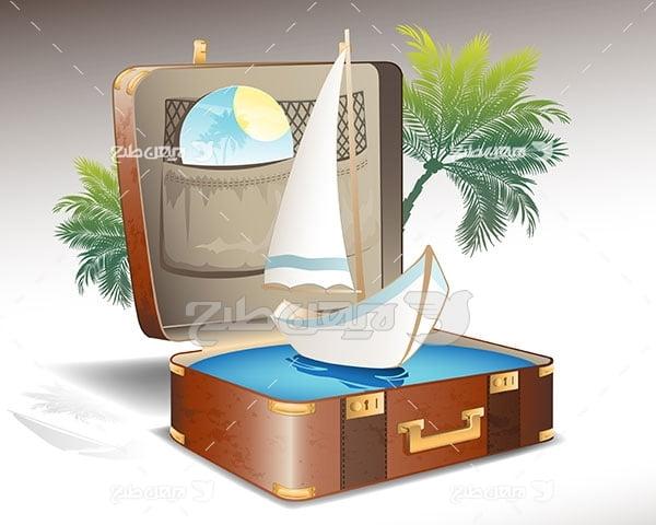 وکتور مسافرت و گردشگری