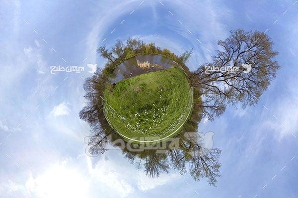 عکس کره زمین و محیط زیست