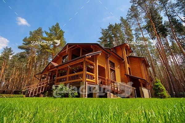 تصویر خانه چوبی