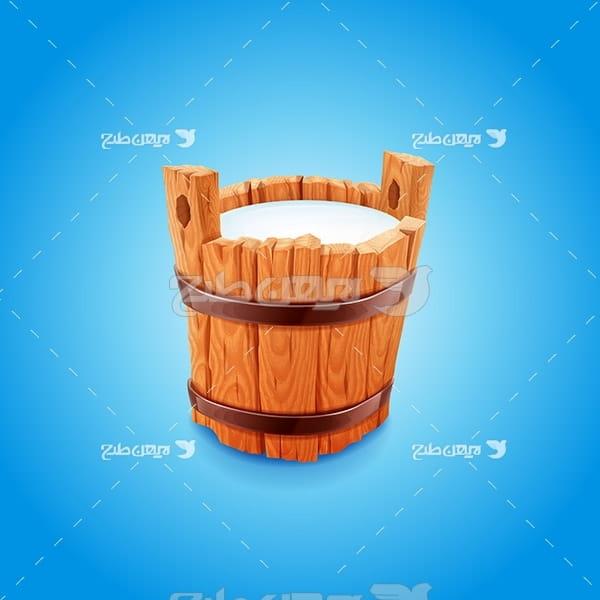 وکتور سطل شیر