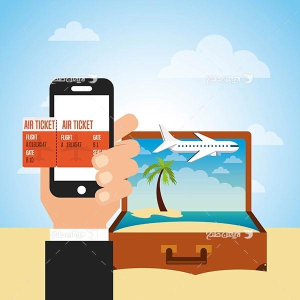 طرح وکتور گرافیکی با موضوع سفر و گردشگری