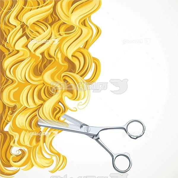 وکتور کوتاه کردن مو