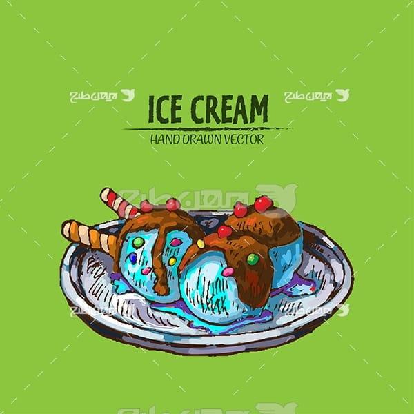 وکتور گرافیک بستنی