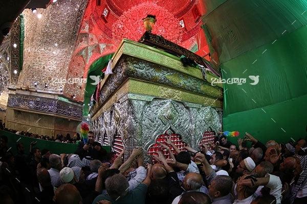 تصویر با کیفیت از ضریح امام حسین علیه السلام و شیعیان