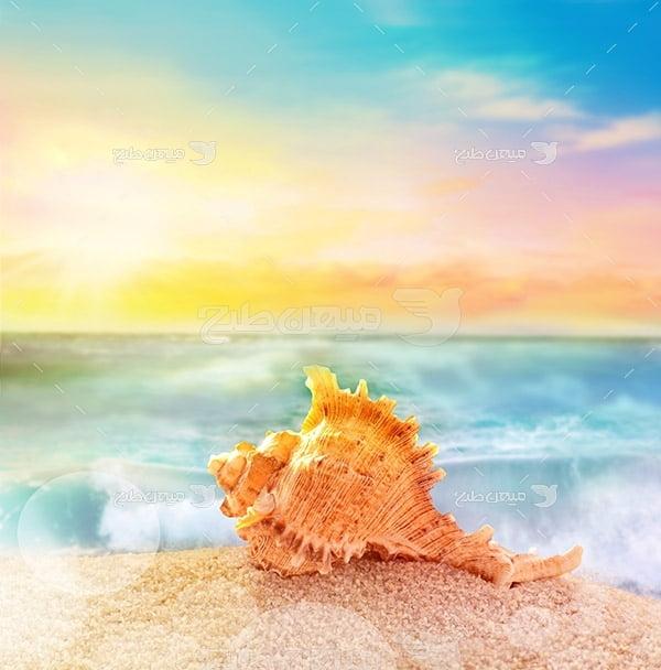 عکس ساحل و دریا