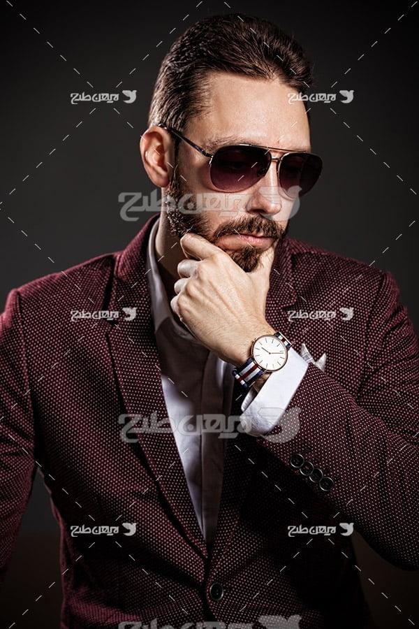 تصویر مدل مرد و برند ساعت