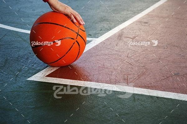 تصویر ورزشی از توپ بسکتبال