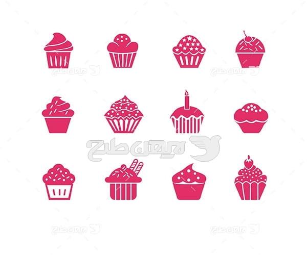 وکتور لوگو و آیکن شیرینی و کیک