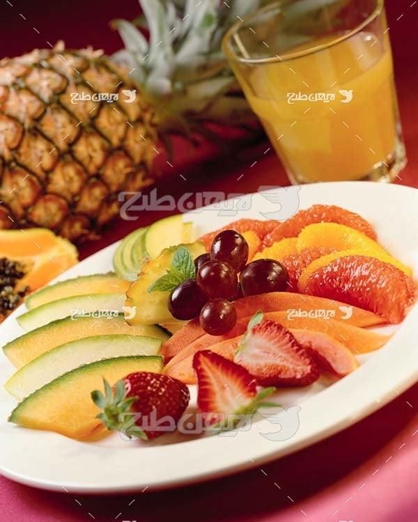 عکس ظرف پر از میوه