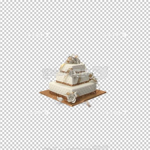 تصویر برش خورده سه بعدی کیک عروسی