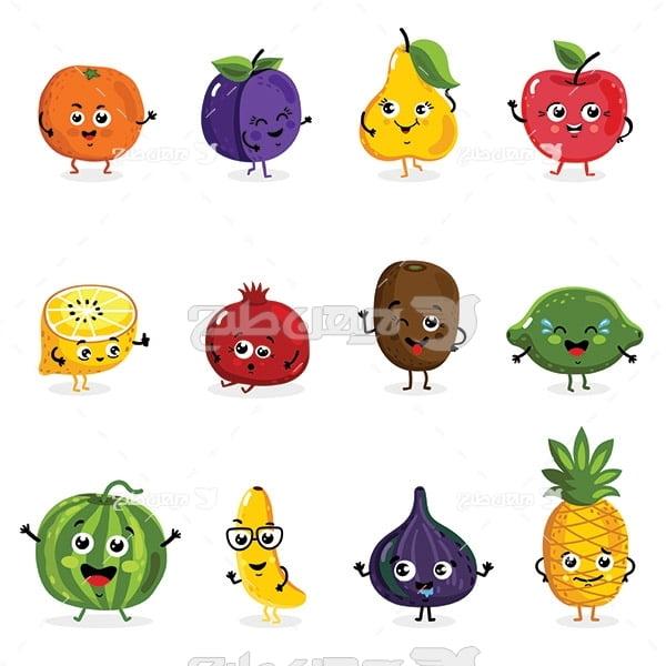 وکتور انواع میوه ها
