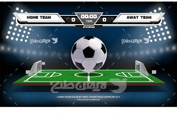 طرح وکتور ورزشی نتیجه مسابقه فوتبال