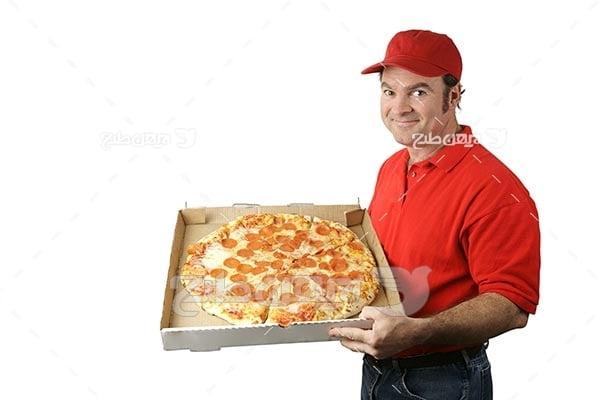 تصویر با کیفیت از پیک چی و پیتزا