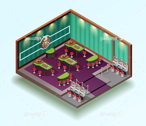 طرح وکتور سه بعدی بازی