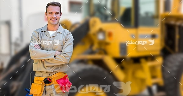 عکس تبلیغاتی راننده لودر