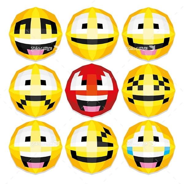 طرح وکتور پیکسلی اموجی emoji