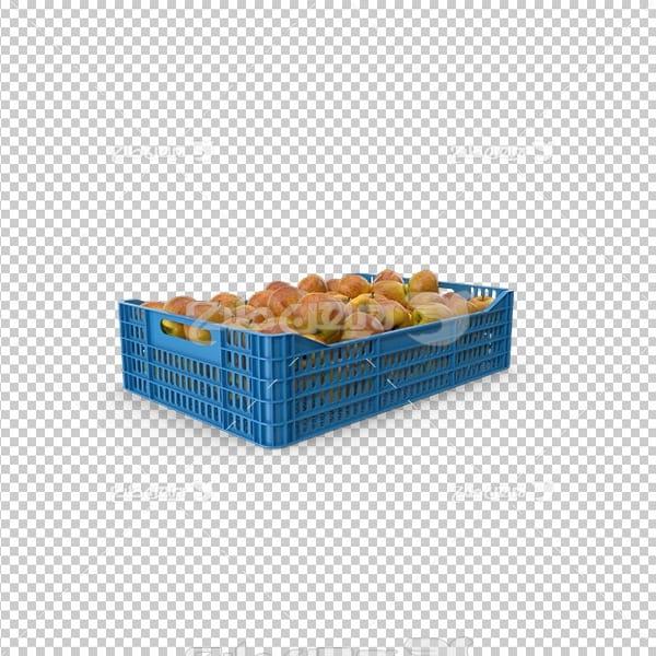 تصویر دوربری سه بعدی سبد میوه