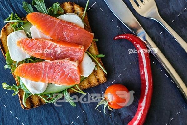 ساندویچ گوشت ماهی