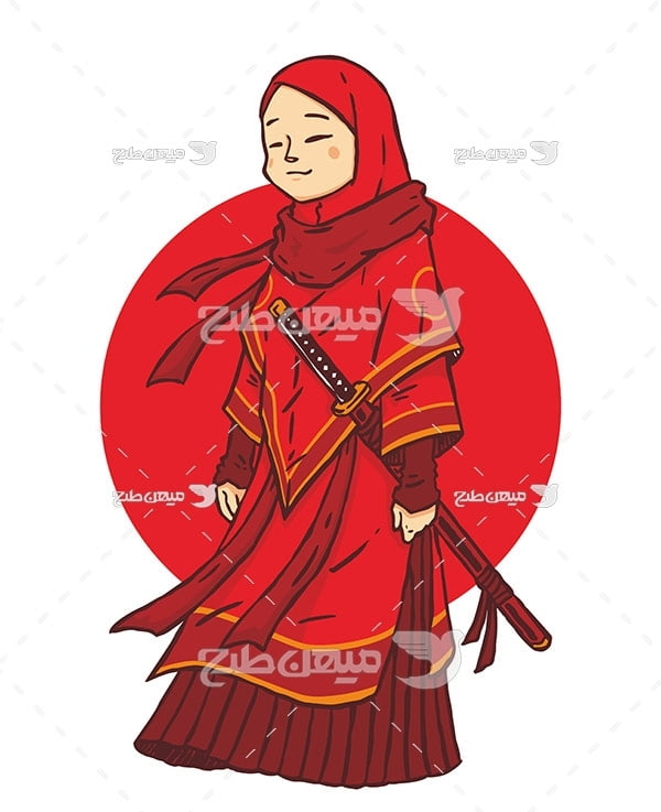وکتور دختر سامورایی
