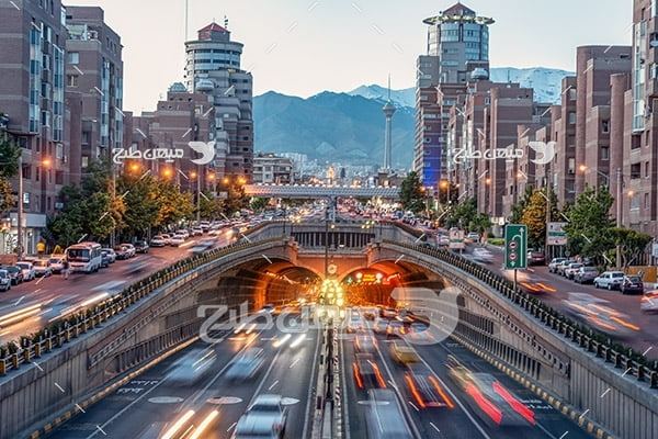 عکس با کیفیت از برج میلاد تهران و تونل توحید