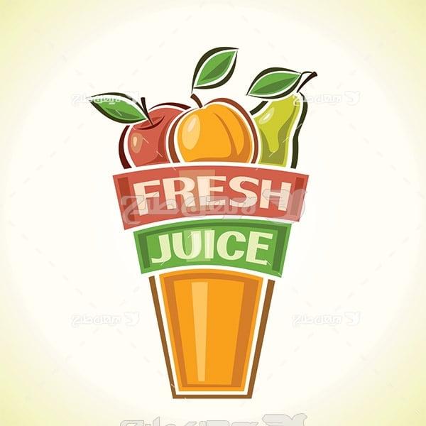 وکتور نوشیدنی میوه ای