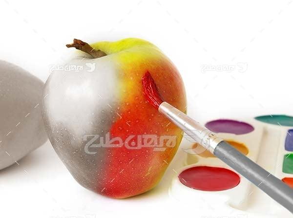 عکس میوه رنگ کرده