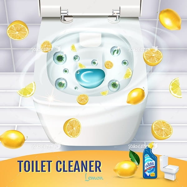 طرح وکتور تبلیغ مایع ظرفشویی با عصاره لیمو