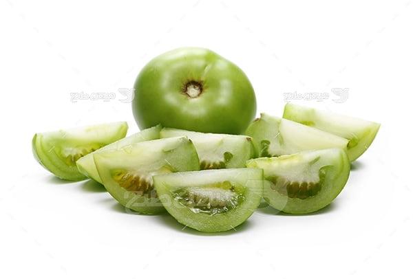 عکس گوجه فرنگی سبز