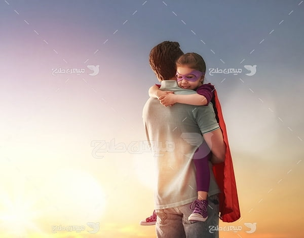 عکس پدر و فرزند
