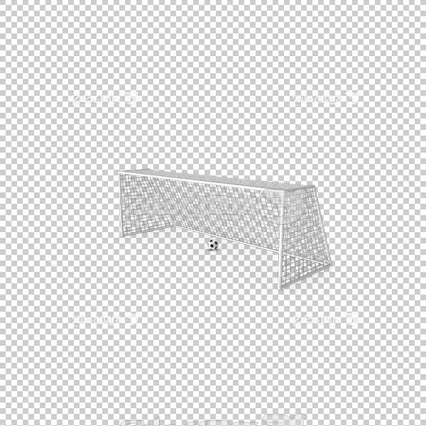 تصویر سه بعدی دوربری دروازه و توپ