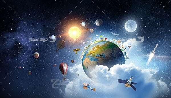 عکس فضا و کره زمین
