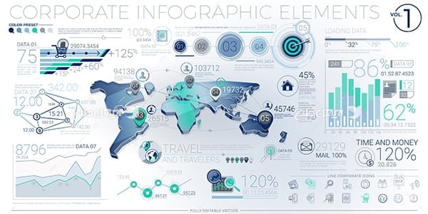طرح وکتور گرافیکی اینو و اطلاعات