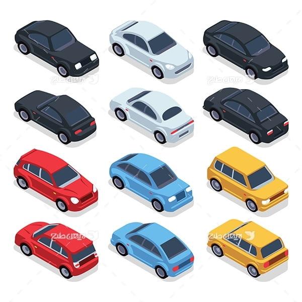 طرح گرافیکی وکتور با موضوع اتومبیل