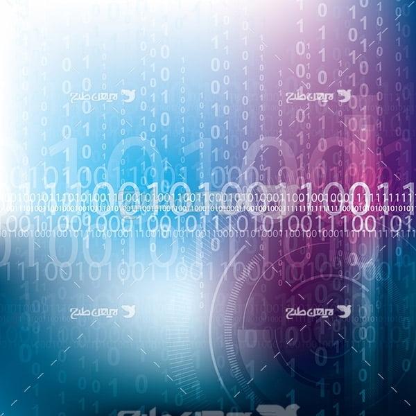 وکتور بک گراند خطوط صفر و یک کامپیوتر
