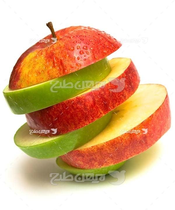 عکس سیب تکه شده