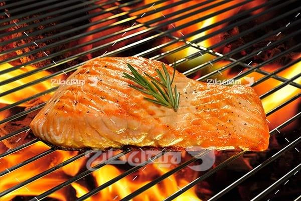 ماهی،گوشت ماهی,غذای ماهی,کباب ماهی