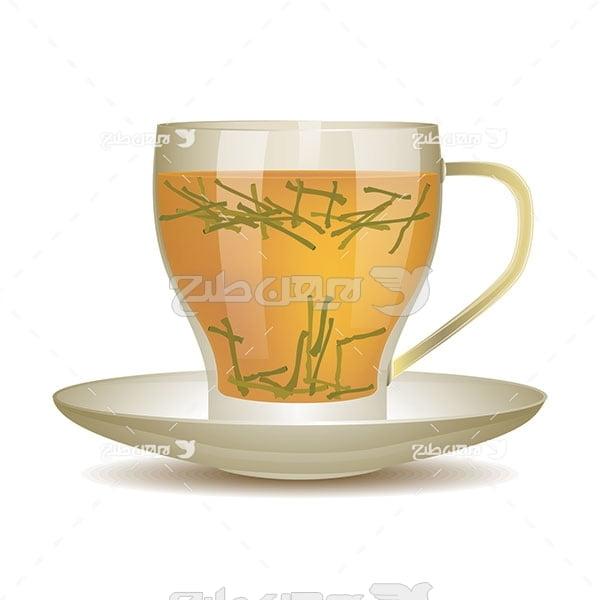وکتور چای سبز
